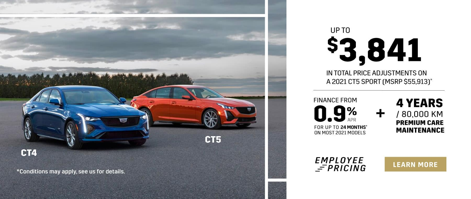 Cadillac CT4 CT5 Employee Pricing in Mississauga - Applewood Cadillac