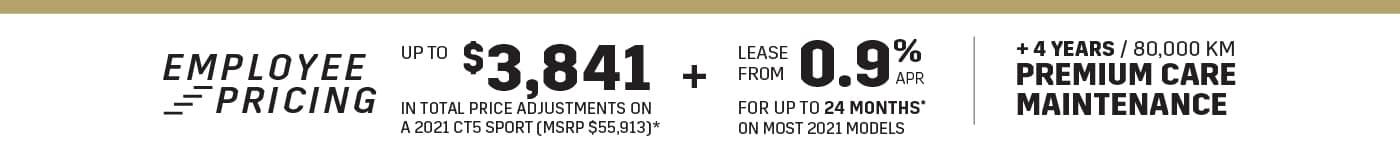 Cadillac Employee Pricing -CT4 CT5 - City Cadillac