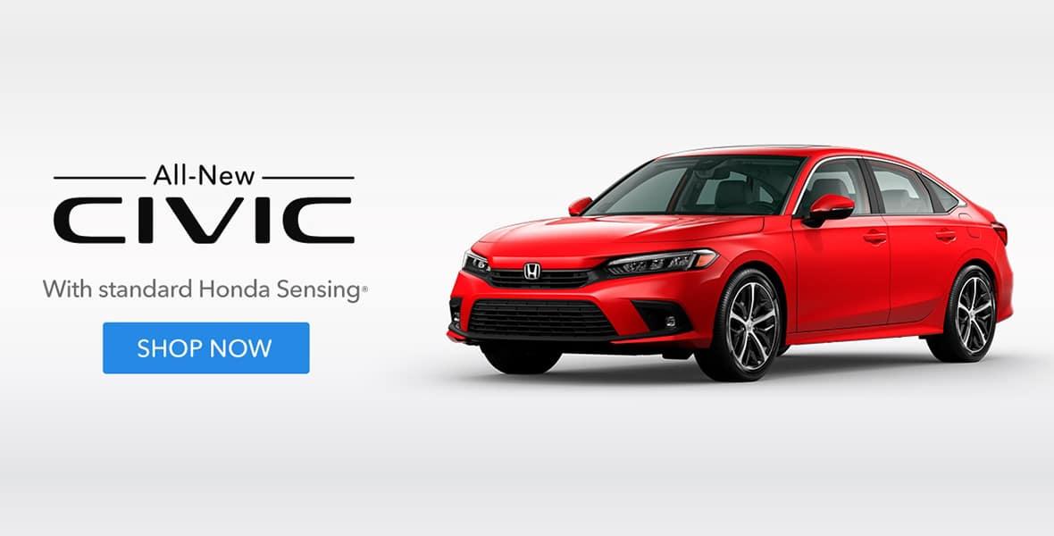 All-New Civic with standard Honda Sensing