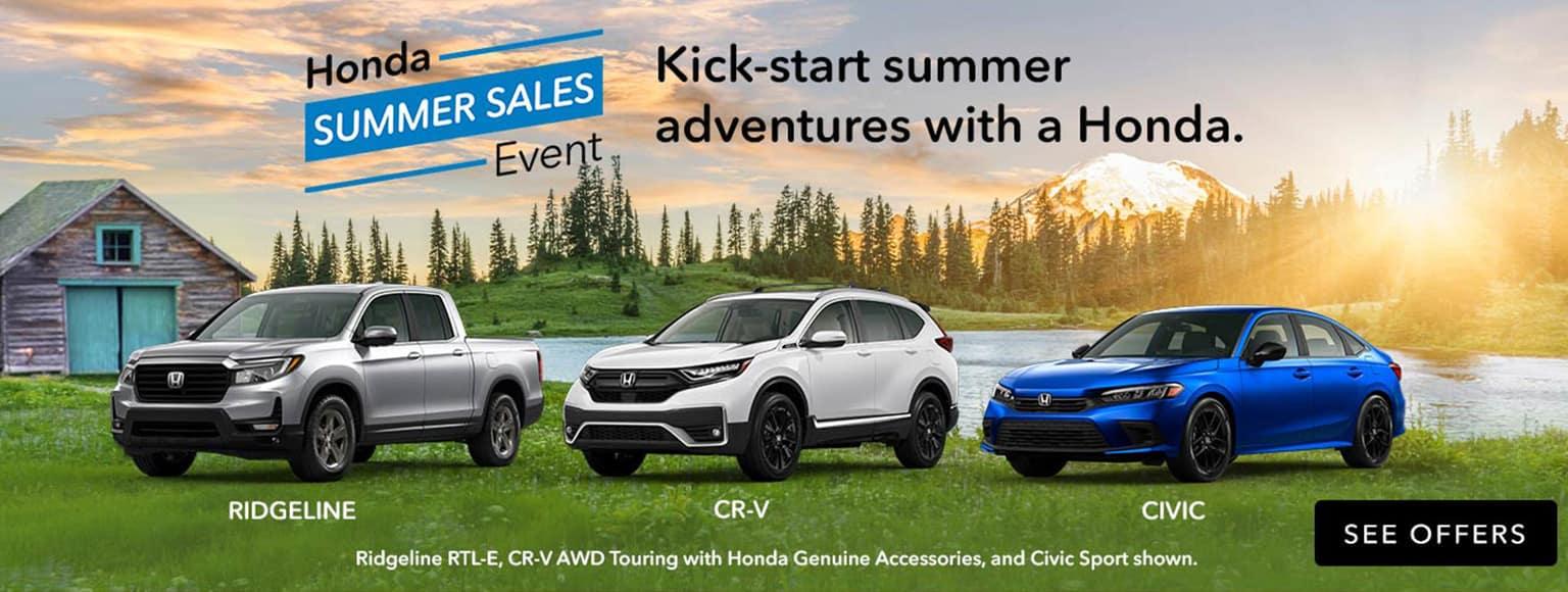 Honda Summer Sales Event 2021