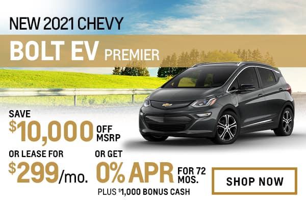 New 2021 Chevy Bolt EV Premier
