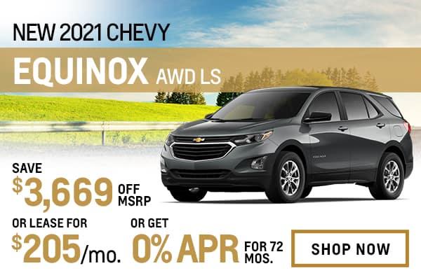 New 2021 Chevy Equinox AWD LS