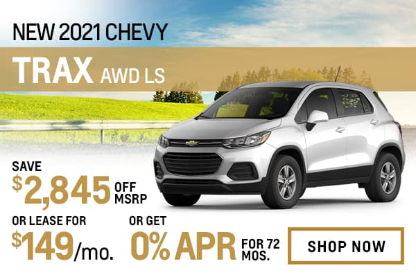 New 2021 Chevy Trax LS