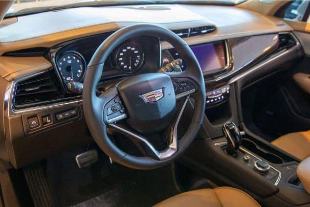 An inside look at a Cadillac dashboard.