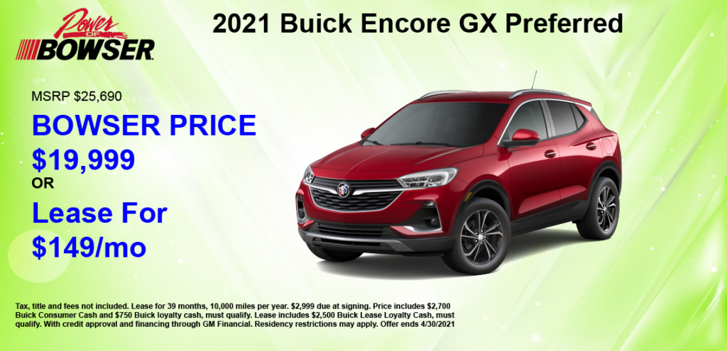 2021 Encore GX Special Offer