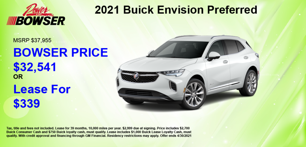 2021 Envision Special Offer