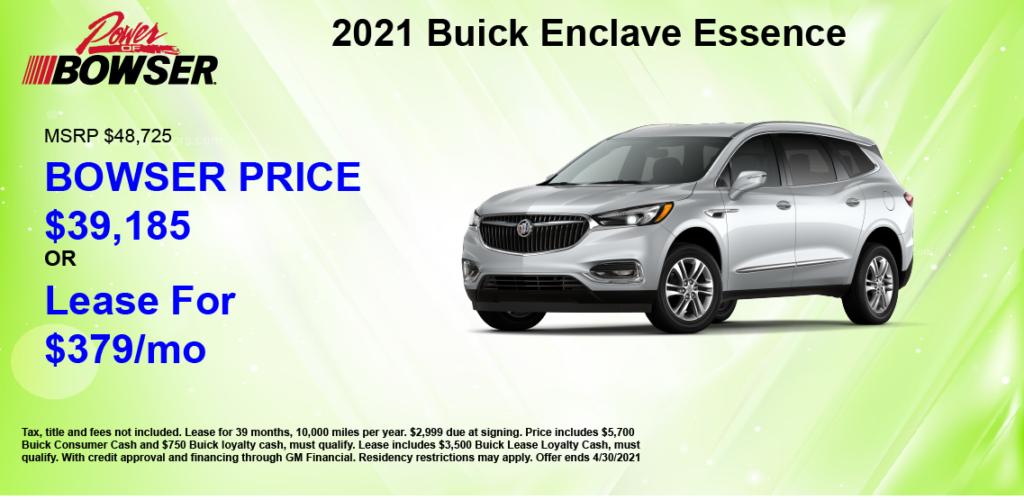 2021 Enclave Special Offer