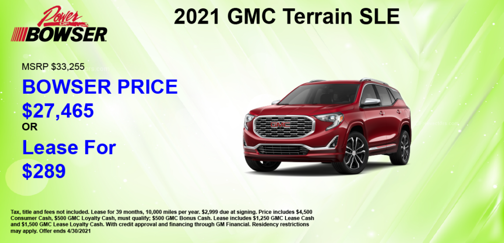 2021 Terrain Special Offer