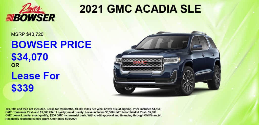 2021 Acadia Special Offer