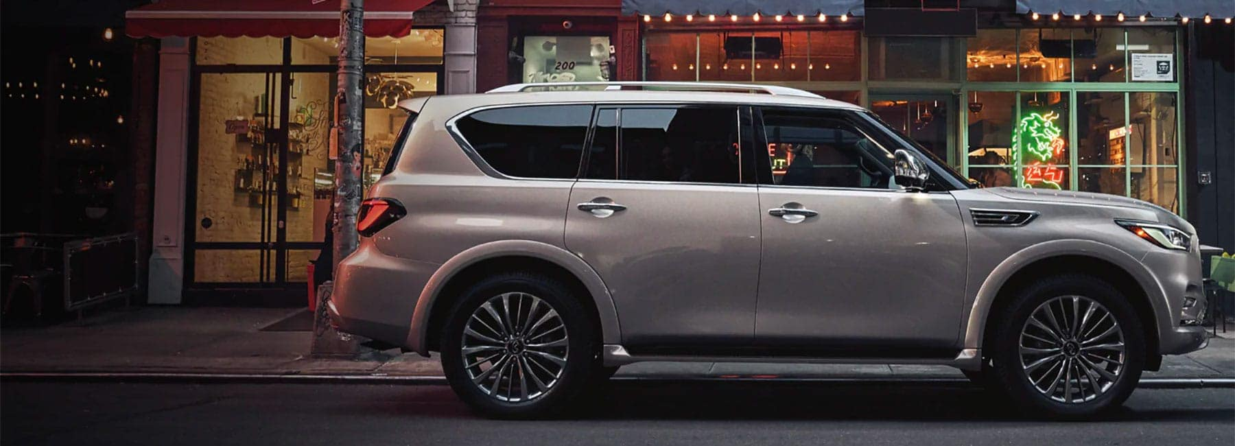 INFINITI QX80 parked on the side of the road