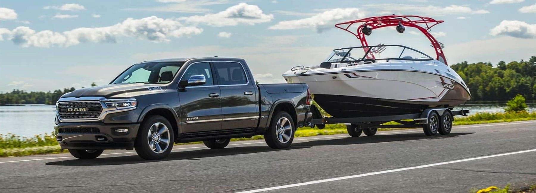 Ram 1500 hauling a boat