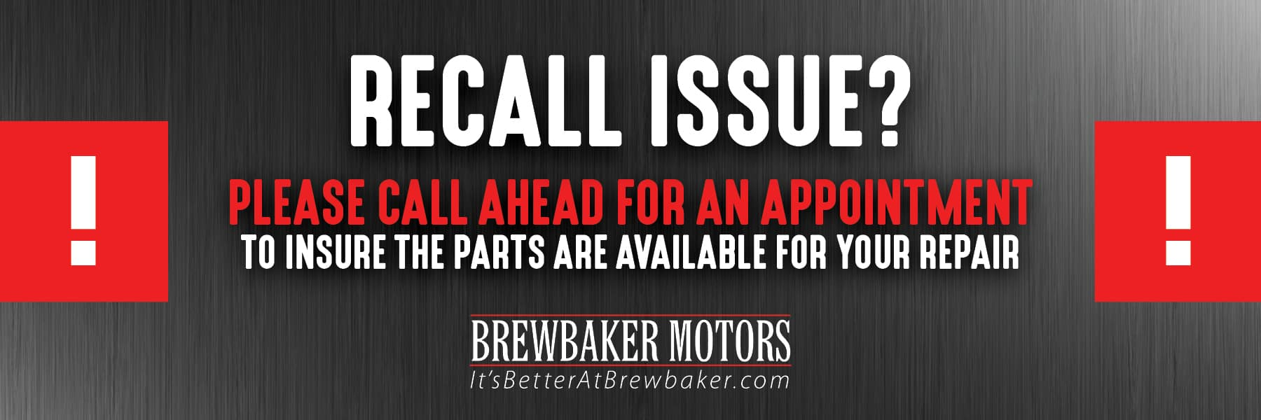 Brew Baker - Recall Issue