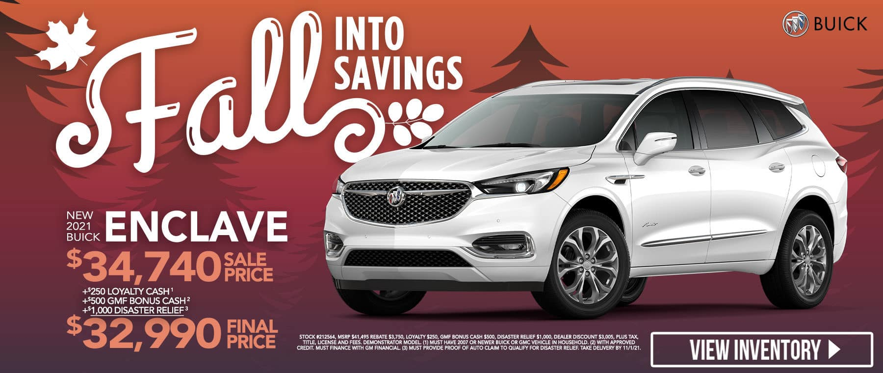 New 2021 Buick Enclave - $32990 Final Sale Price