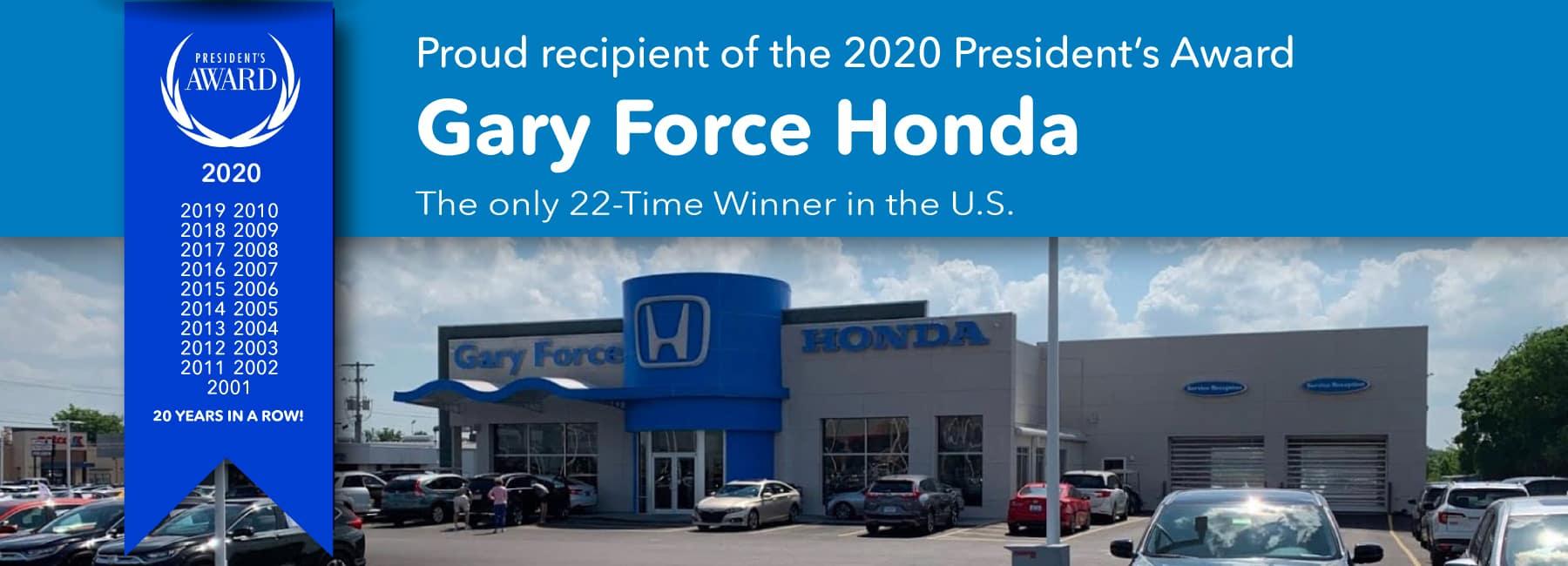 Presidents Award 2020 - 22 Time Winner