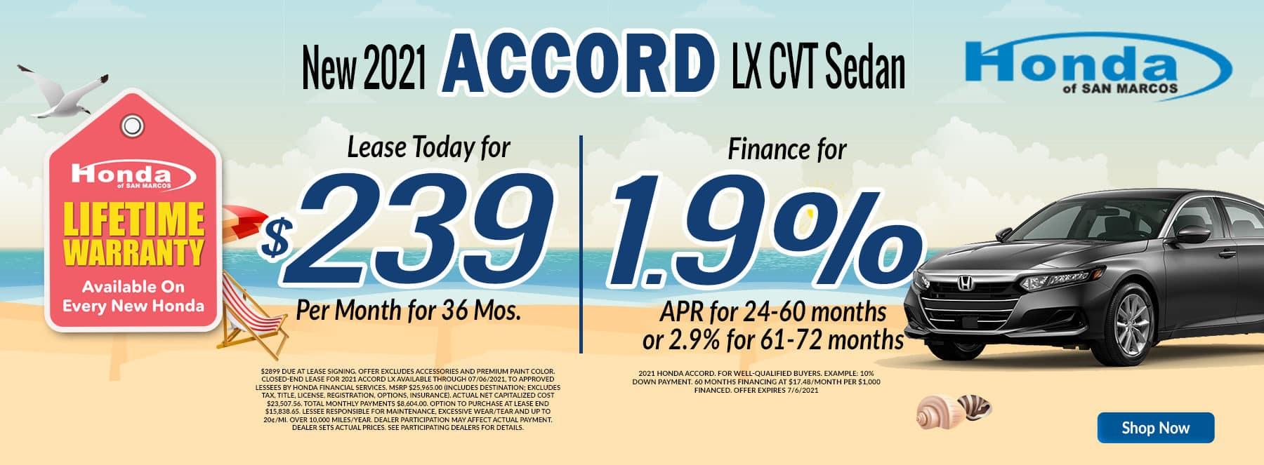 2021 Accord Lease APR June