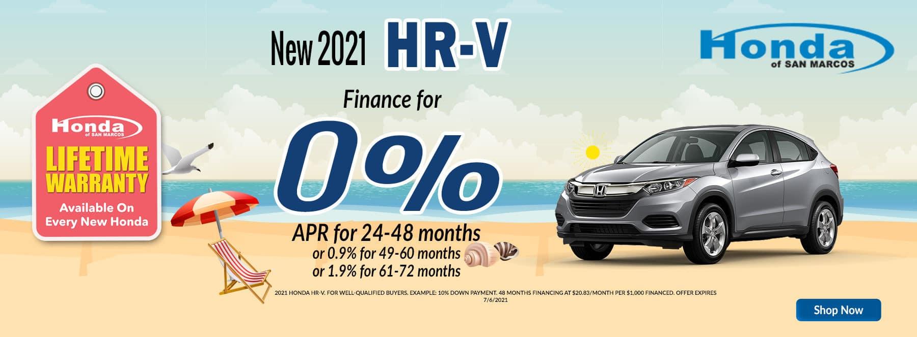 2021 June Offer HRV