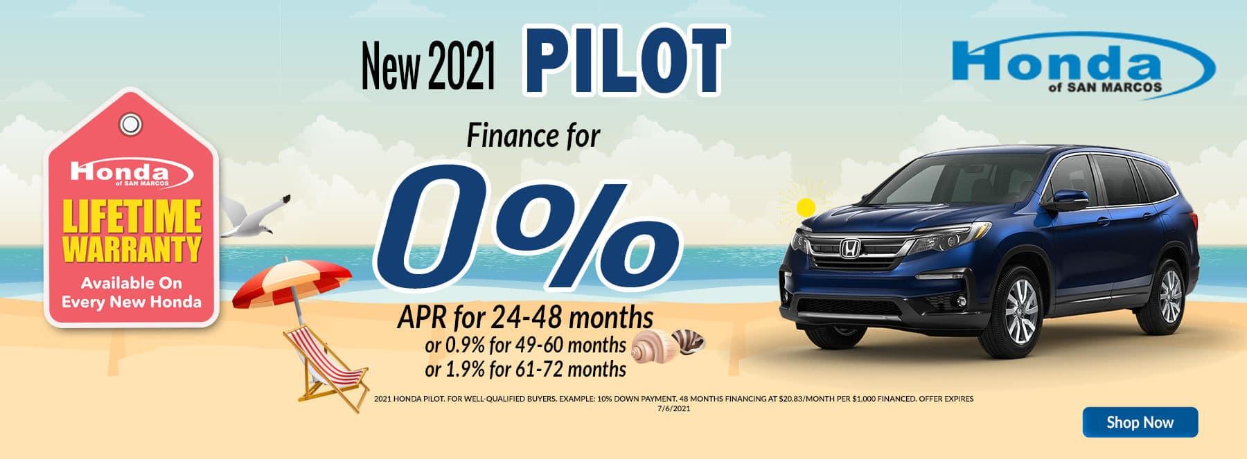 2021 Pilot Finance