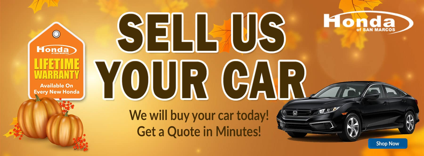 Honda San Marcos Sell Us Your Car
