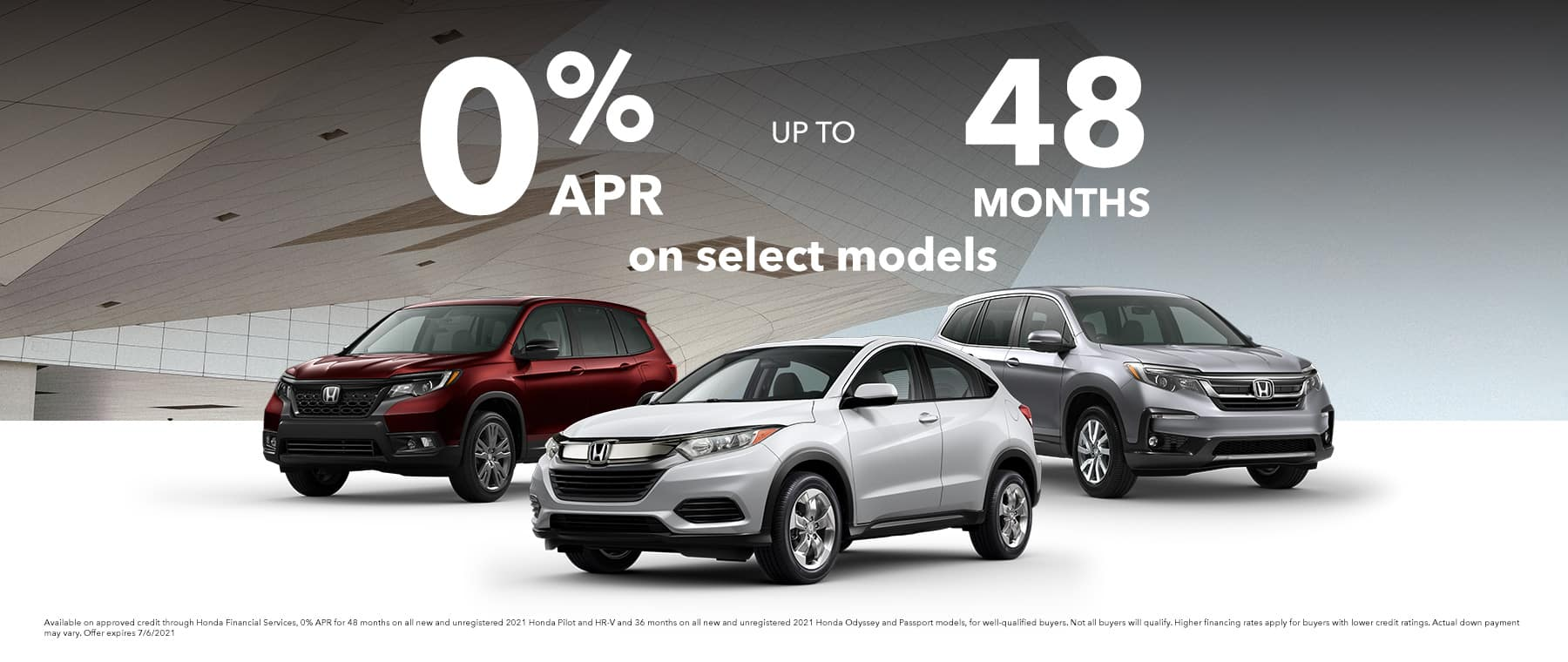 0% APR up to 48 months on select models