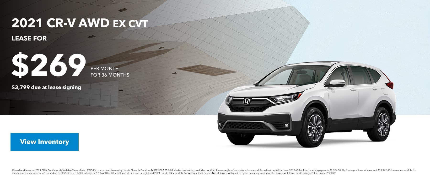 2021 CR-V AWD EX