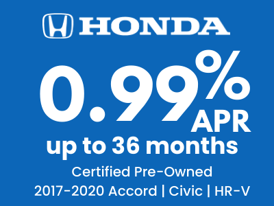 0.99% APR UP TO 36 MONTHS