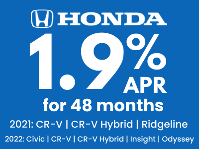 1.9% APR FOR 48 MONTHS