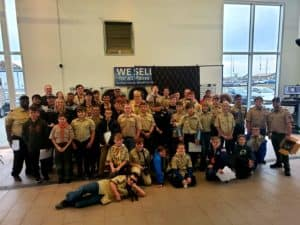 The participants from the Boy Scouts of America Merit Badge Day