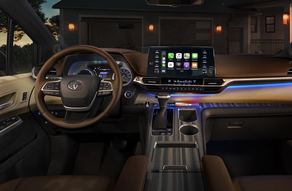 2021 Toyota Sienna Interior with Apple CarPlay®