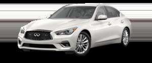 2021 INFINITI Q50 Sedan White Exterior