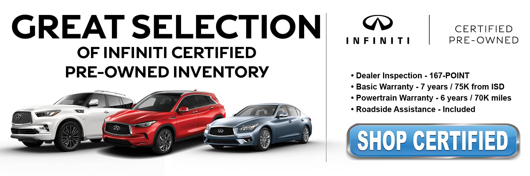 Shop Certified Pre-Owned at Kelly INFINITI