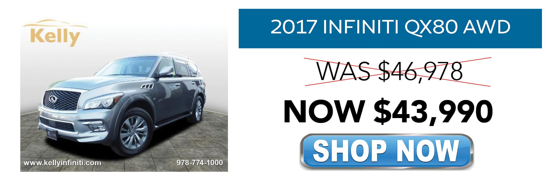 Certified Pre-Owned 2017 INFINITI QX80 Now $43,990