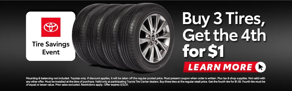 Buy 3 Tires, Get the 4th for $1 in Metairie, LA