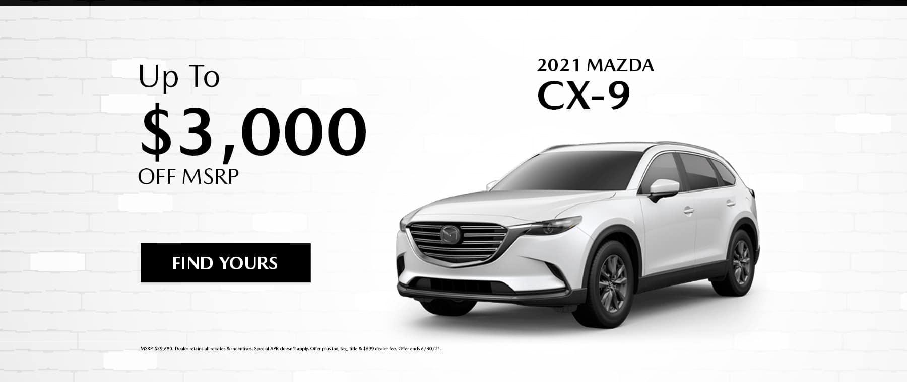 June Mazda CX-9 Specials