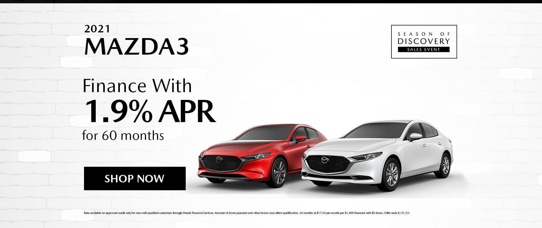 Mazda3 August Specials