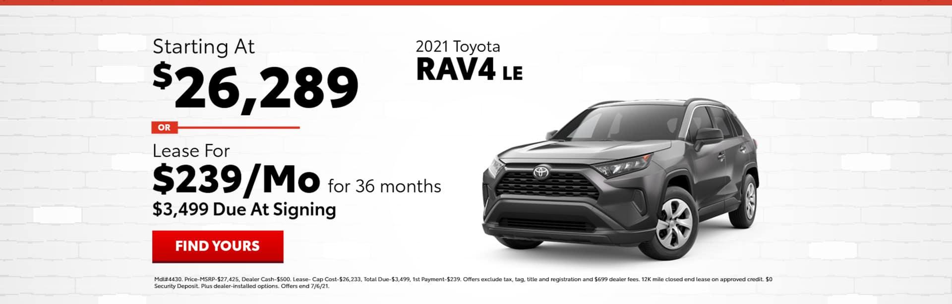 June RAV4 Specials