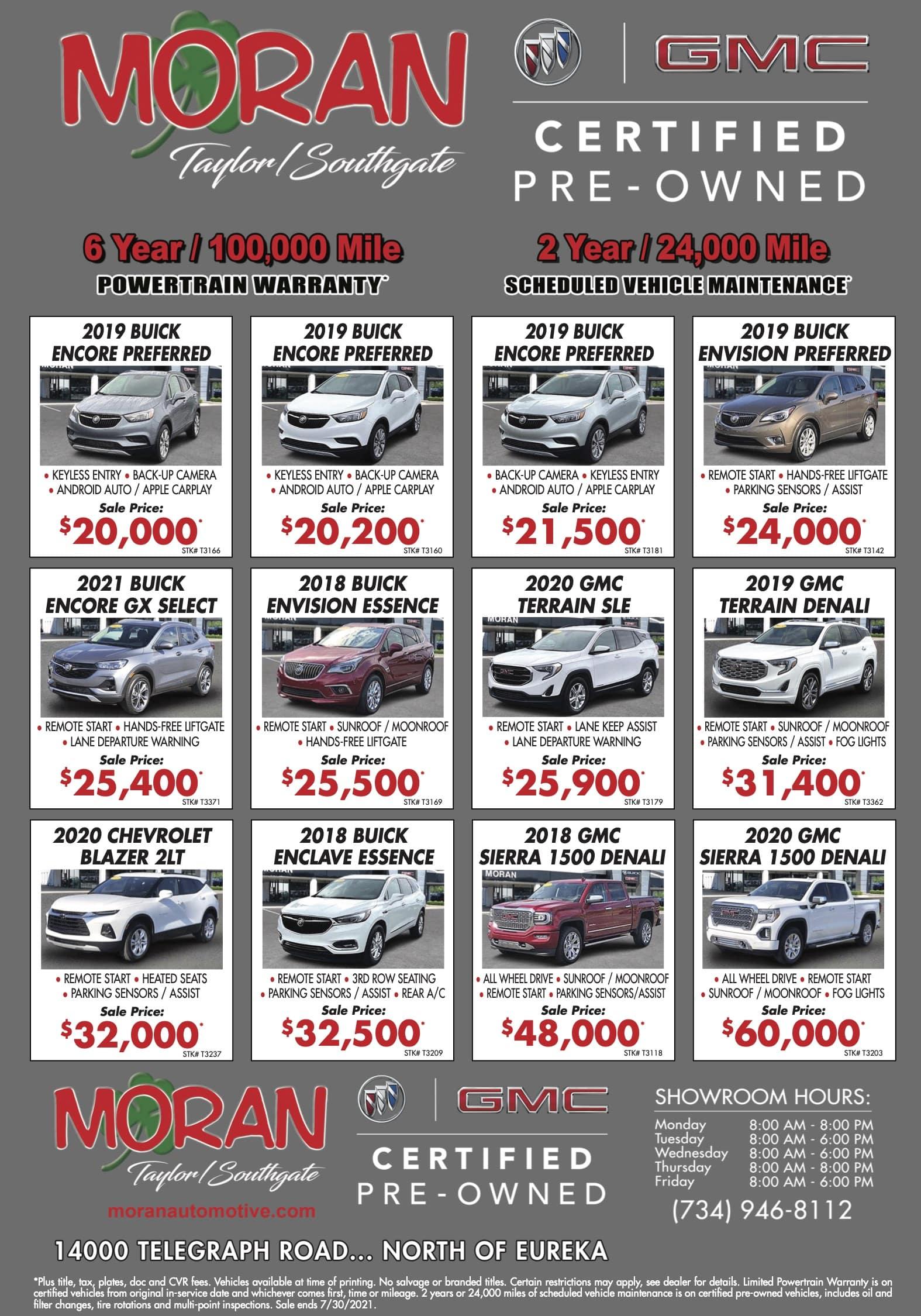 Used Vehicle Newspaper Ad