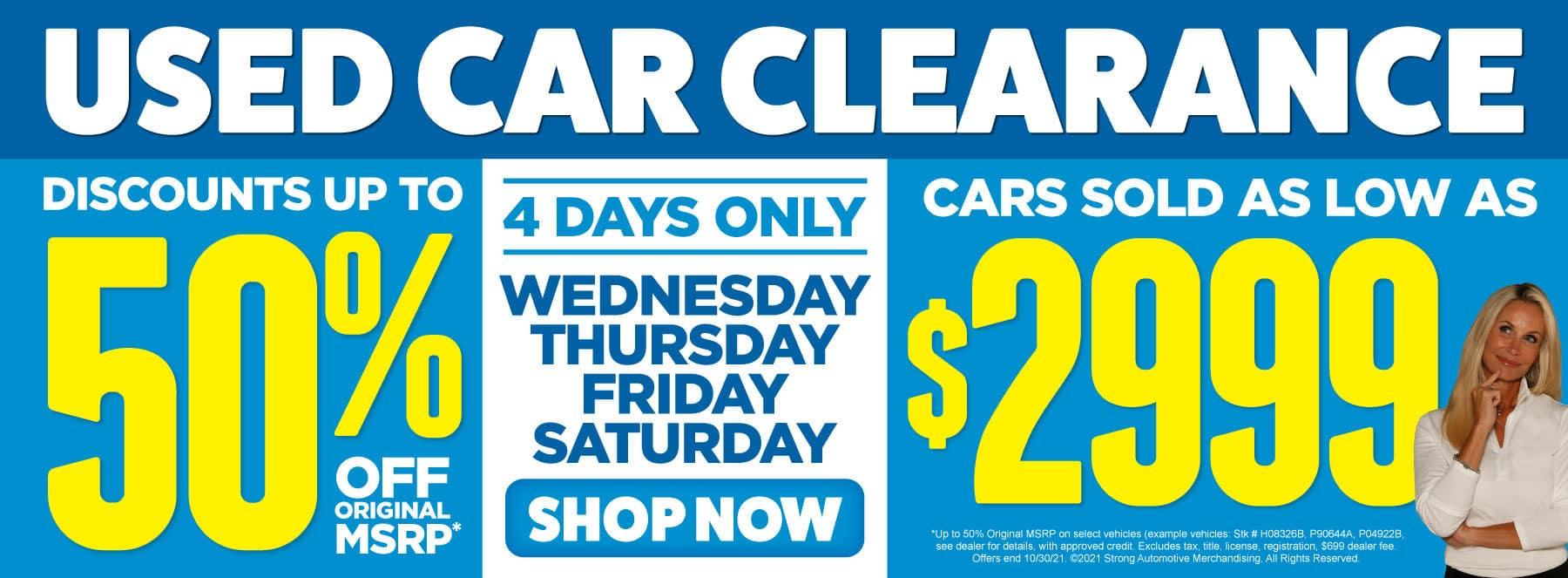 Used Car Clearance