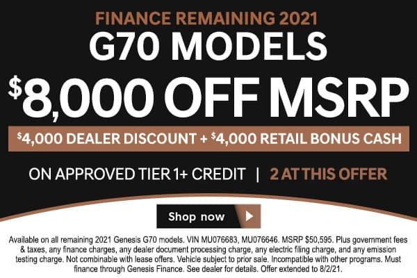 <!-- Finance Remaining 2021 G70 Models -->