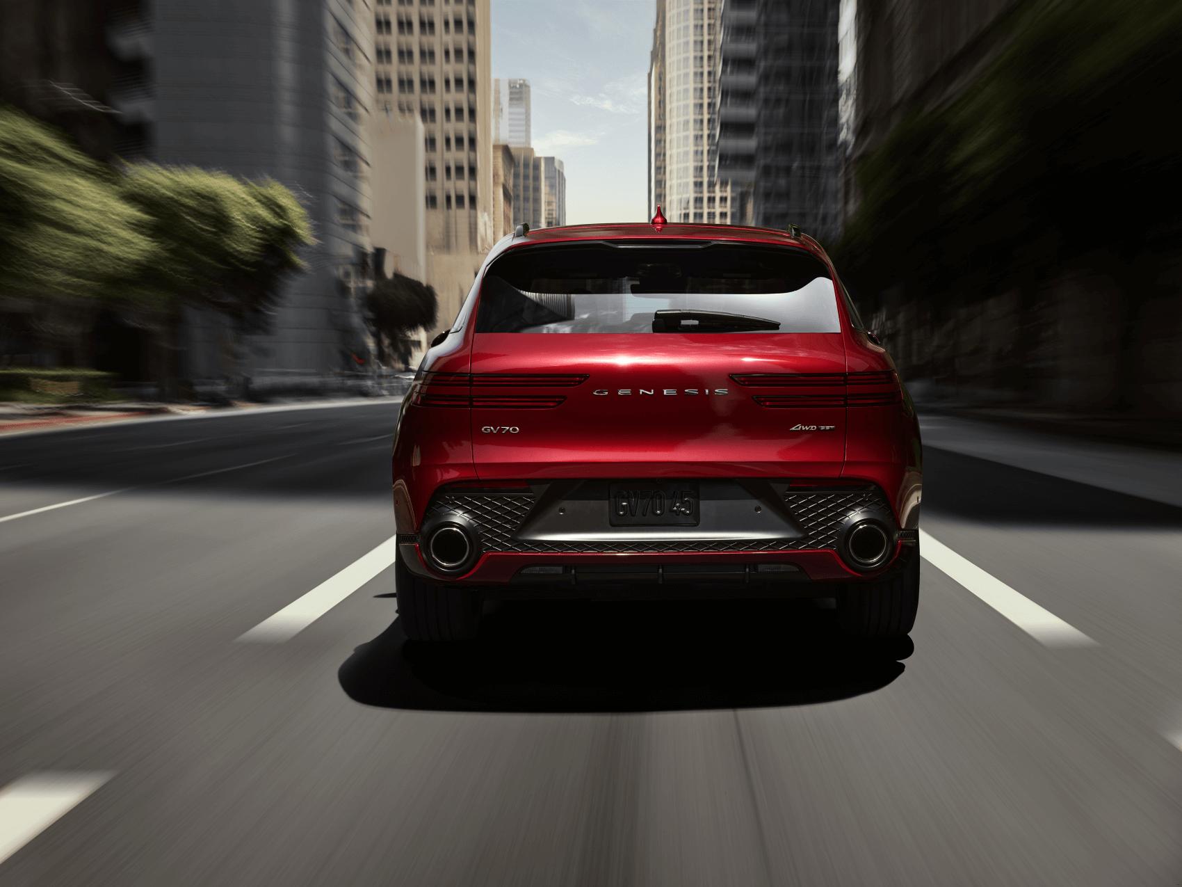 2022 Genesis GV70 Red Rear 2