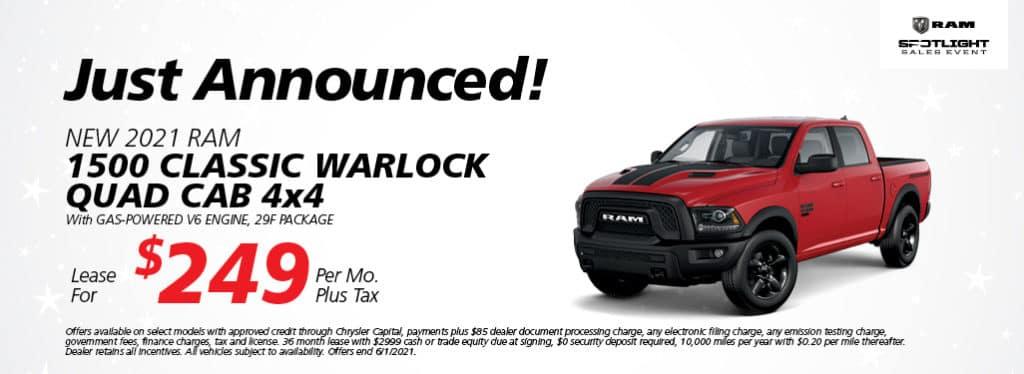 2021 Ram 1500 Classic Warlock Quad Cab 4 X 4
