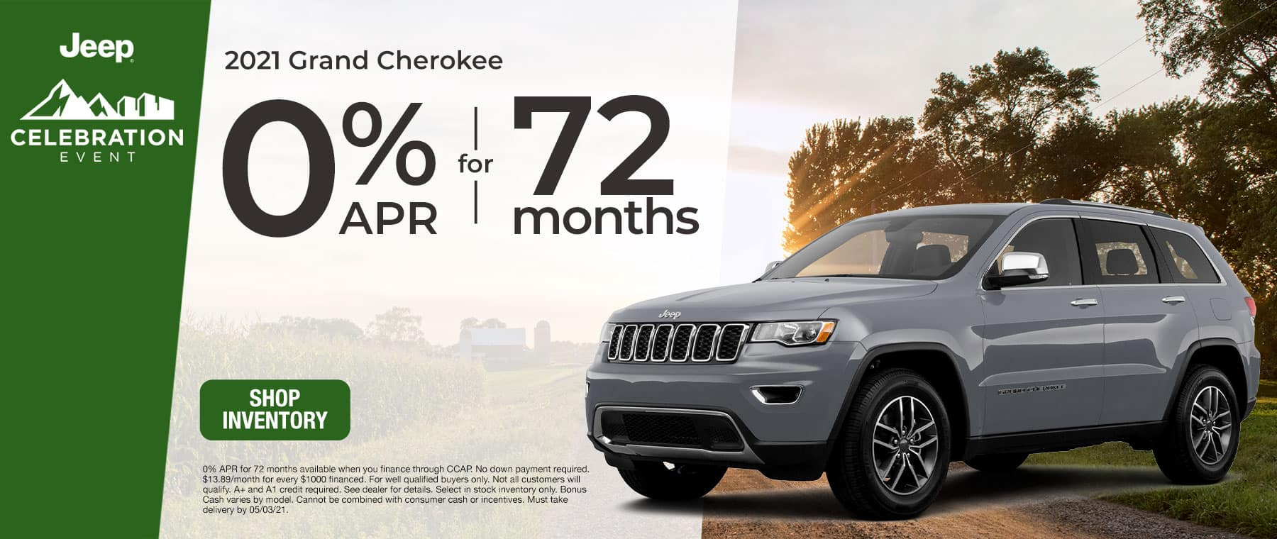2021 Grand Cherokee - 0% APR for 72 Months