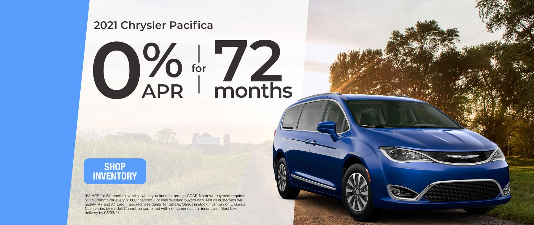 2021 Chrysler Pacifica - 0% APR for 72 Months
