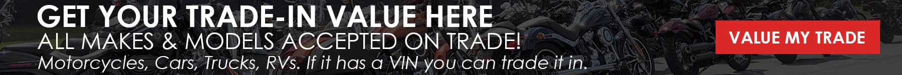 Motorcycle, Truck, Car, RV Trade-In Value