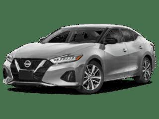 angled 2020 Nissan Maxima