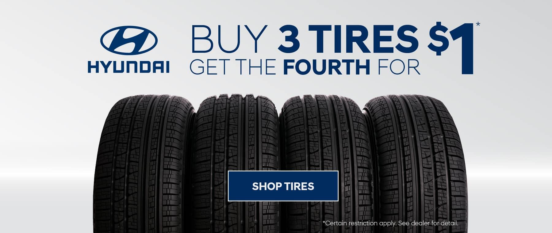 Buy 3 Tires Get 1 for $1 at Rosen Hyundai Greenfield