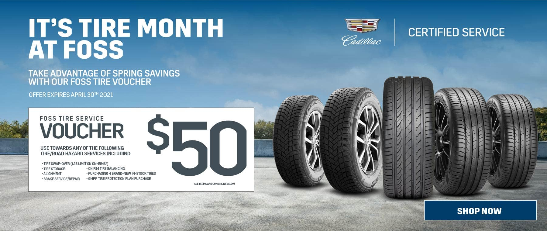 Tire Month at Roy Foss