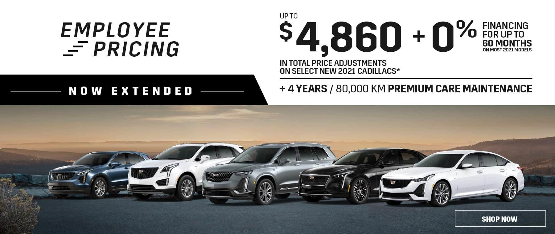 Employee Pricing Now Extended – Roy Foss Thornhill – Dealerinspire Banner 1800×760 – Cadillac – Revised