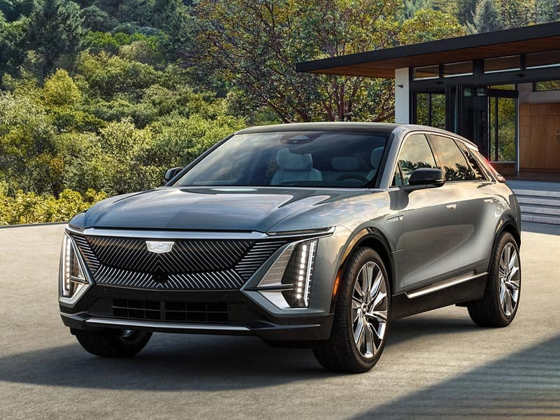 2023 Cadillac LYRIQ EV modern futuristic exterior