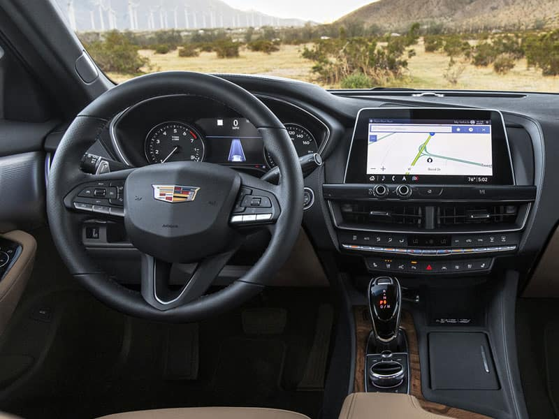 New 2021 Cadillac CT5 interior comfort and technology