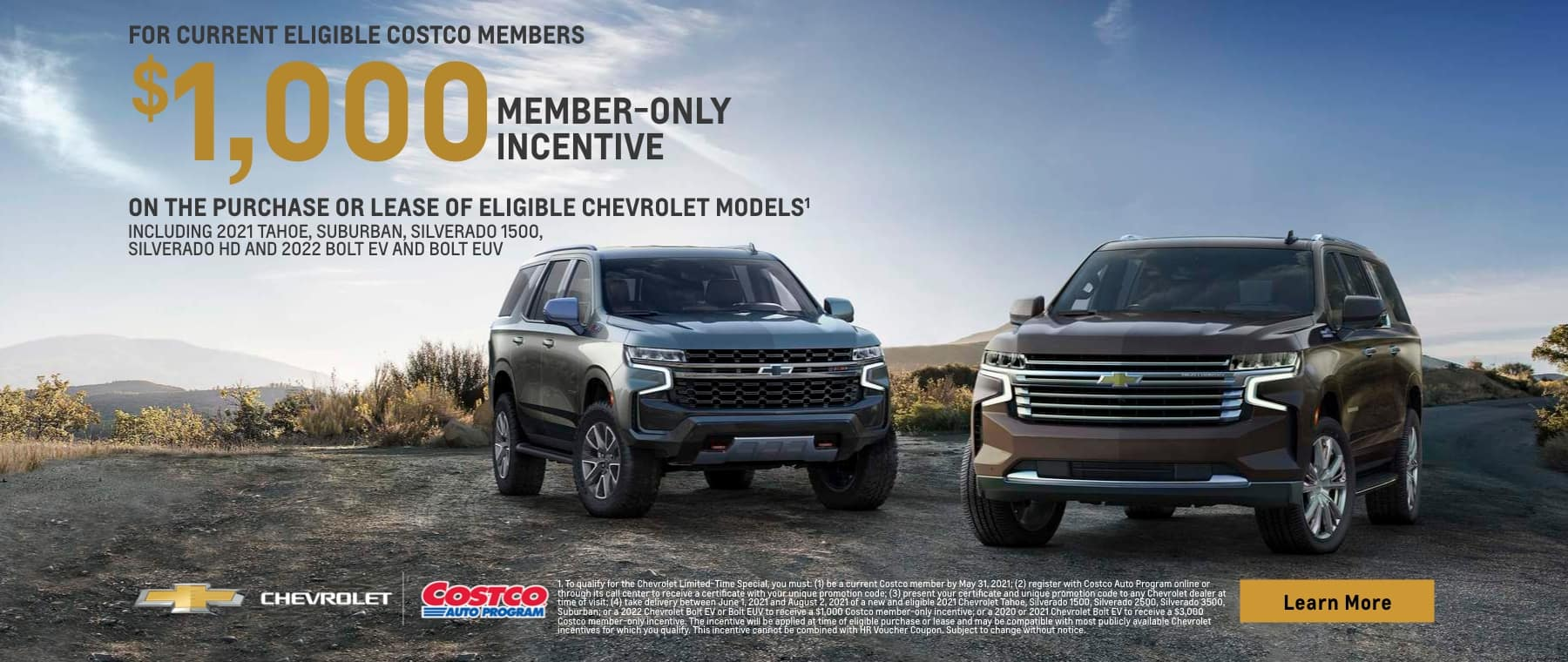 Costco Member Incentive for Select Vehicles